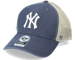 New York Yankees Flagship Wash Mvp Vintage Navy/Beige Trucker - 47 Brand