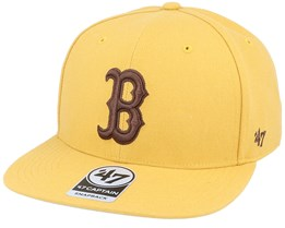 Boston Red Sox No Shot Captain Wheat/Brown Snapback - 47 Brand