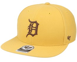 Detroit Tigers No Shot Captain Wheat/Brown Snapback - 47 Brand
