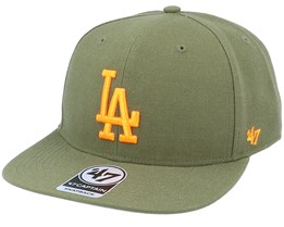 Los Angeles Dodgers No Shot Captain Sandalwood Green/Orange Snapback - 47 Brand