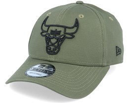 Chicago Bulls Essential Outline 9Forty Olive/Black Adjustable - New Era