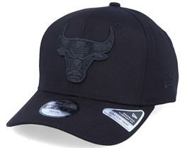 Kids Chicago Bulls Tonal 9Fifty Stretch Snap Black/Black Adjustable - New Era