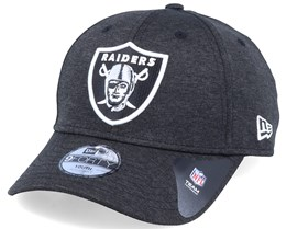 Kids Oakland Raiders Shadow Tech 9Forty Heather Black/White Adjustable - New Era
