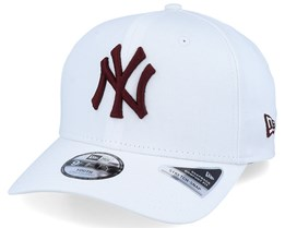 Kids New York Yankees League Essential 9Fifty Stretch Snap White/Crimson Adjustable - New Era