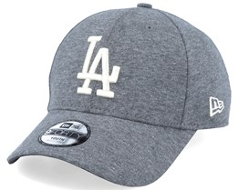Los Angeles Dodgers Jersey Essential 39Thirty Heather Dark Grey/White Flexfit - New Era