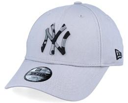 Kids New York Yankees Camo Infill 9Forty Grey/Black Camo Adjustable - New Era