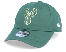 Milwaukee Bucks NBA League Essential 9Forty Green Adjustable - New Era