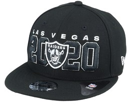 Kids Las Vegas Raiders NFL 20 Draft Official 9Fifty Black Snapback - New Era