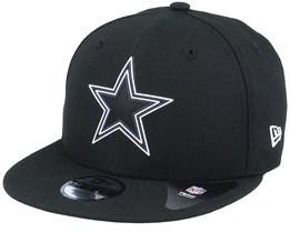 Kids Dallas Cowboys NFL 20 Draft Official 9Fifty Black Snapback - New Era