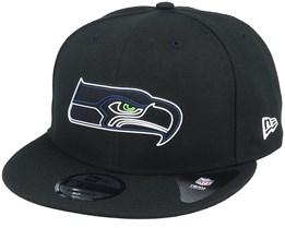 Seattle Seahawks NFL 20 Draft Official 9Fifty Black Snapback - New Era