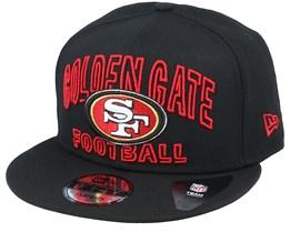San Francisco 49ers NFL 20 Draft Alt 9Fifty Black Snapback - New Era