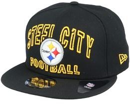 Pittsburgh Steelers NFL 20 Draft Alt 9Fifty Black Snapback - New Era