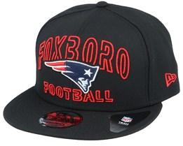 New England Patriots NFL 20 Draft Alt 9Fifty Black/Red Snapback - New Era