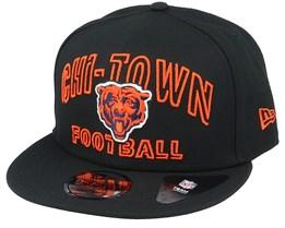 Chicago Bears NFL 20 Draft Alt 9Fifty Black Snapback - New Era
