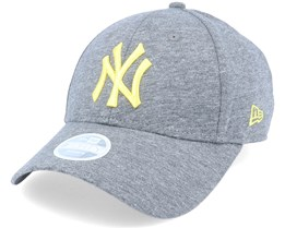 New York Yankees Womens Licensed 9Forty Snap Heather Grey/Yellow Adjustable - New Era