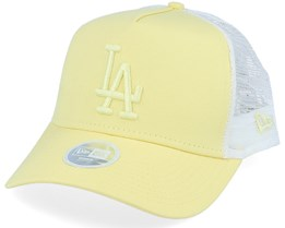 Los Angeles Dodgers Womens League Essential Light Yellow/Light Yellow/White Trucker - New Era