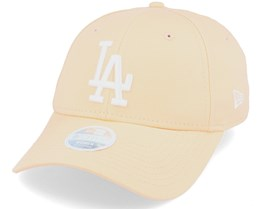 Los Angeles Dodgers Womens League Essential 9Forty Peach/White Adjustable - New Era