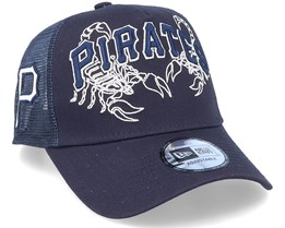 Pittsburgh Pirates Tech Fabric Licensed Navy Trucker - New Era