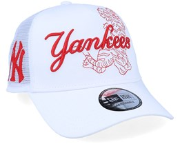 New York Yankees Tech Fabric Licensed White Trucker - New Era