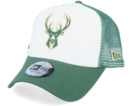 Milwaukee Bucks Colour Block OTC White/Green Trucker - New Era
