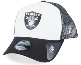 Kids Oakland Raiders Colour Block OTC White/Black Trucker - New Era