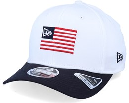 Flagged Stretch Snap White/Navy Adjustable - New Era