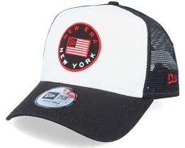 Flag White/Black Trucker - New Era