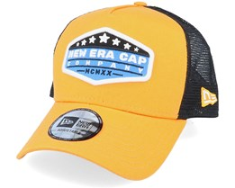 NE Star Patch Orange/Black Trucker - New Era