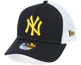 Kids New York Yankees League Essential Black/Yellow/White Trucker - New Era