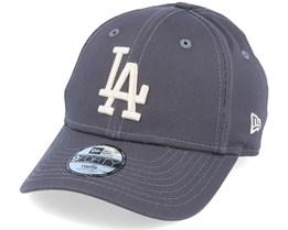 Kids Los Angeles Dodgers League Essential 9Forty Dark Grey/Stone Adjustable - New Era