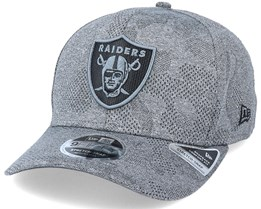 Las Vegas Raiders Engineered Plus 9Fifty Stretch Snap Dark Grey Adjustable - New Era