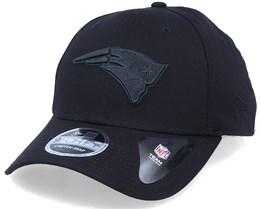 New England Patriots Black On Black 9Forty Black Adjustable - New Era