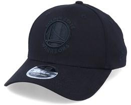 Golden State Warriors Black On Black 9Forty Black Adjustable - New Era