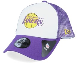 Kids LA Lakers Colour Block OTC White/Purple Trucker - New Era