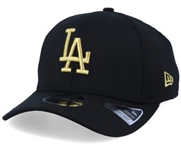 Hatstore Exclusive LA Dodgers Black/Gold Stretch Snap - New Era
