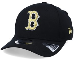 Hatstore Exclusive Boston Red Sox Black/Gold Stretch Snap - New Era