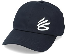 Curry Golf Hat Black/Onyx White Dad Cap - Under Armour