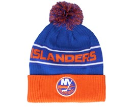 New York Islanders Authentic Pro Locker Room Royal/Orange Pom - Fanatics