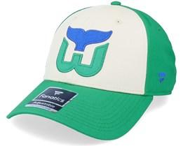 Hartford Whalers True Classics Structured Kelly Green Adjustable - Fanatics