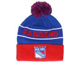New York Rangers Authentic Pro Locker Room Blue/Red Pom - Fanatics