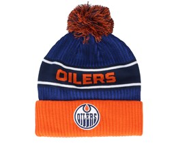Edmonton Oilers Authentic Pro Locker Room Blue/Orange Pom - Fanatics