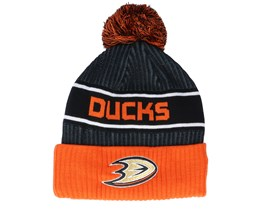 Anaheim Ducks Authentic Pro Locker Room Black/Orange Pom - Fanatics