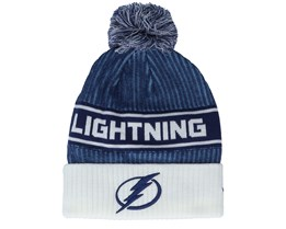 Tampa Bay Lightning Authentic Pro Locker Room Blue/White Pom - Fanatics