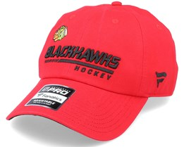 Chicago Blackhawks Authentic Pro Locker Room Dad Cap Red Adjustable - Fanatics