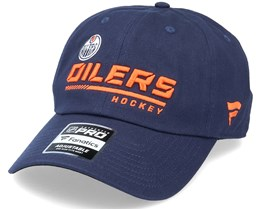Edmonton Oilers Authentic Pro Locker Room Dad Cap Navy Adjustable - Fanatics