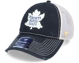Toronto Maple Leafs True Classics Unstructured Meshback Black/White Trucker - Fanatics