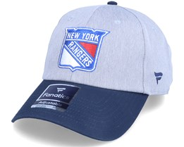 New York Rangers Grey Marl Unstructured Sports Grey/Navy Dad Cap - Fanatics