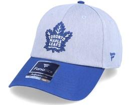 Toronto Maple Leafs Grey Marl Unstructured Sports Grey/Blue Dad Cap - Fanatics