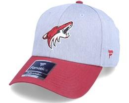 Arizona Coyotes Grey Marl Unstructured Sports Grey/Maroon Adjustable - Fanatics