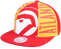 Atlanta Hawks Big Face Callout Hwc Red Snapback - Mitchell & Ness